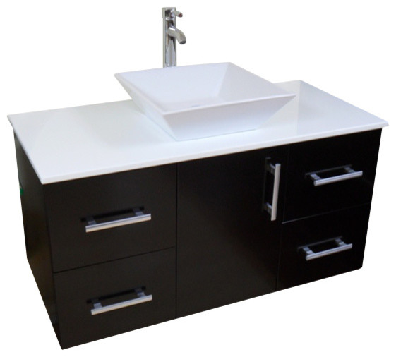 42 Quot Modern Contemporary Bathroom Cabinet Vanity 42 Quot 42in