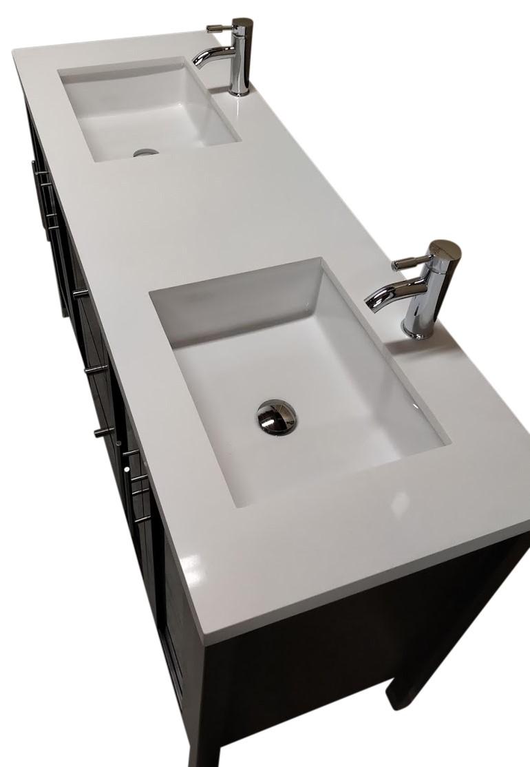 """2100 Bathroom Vanity: 60"""" Double Sink Modern Vanity"""